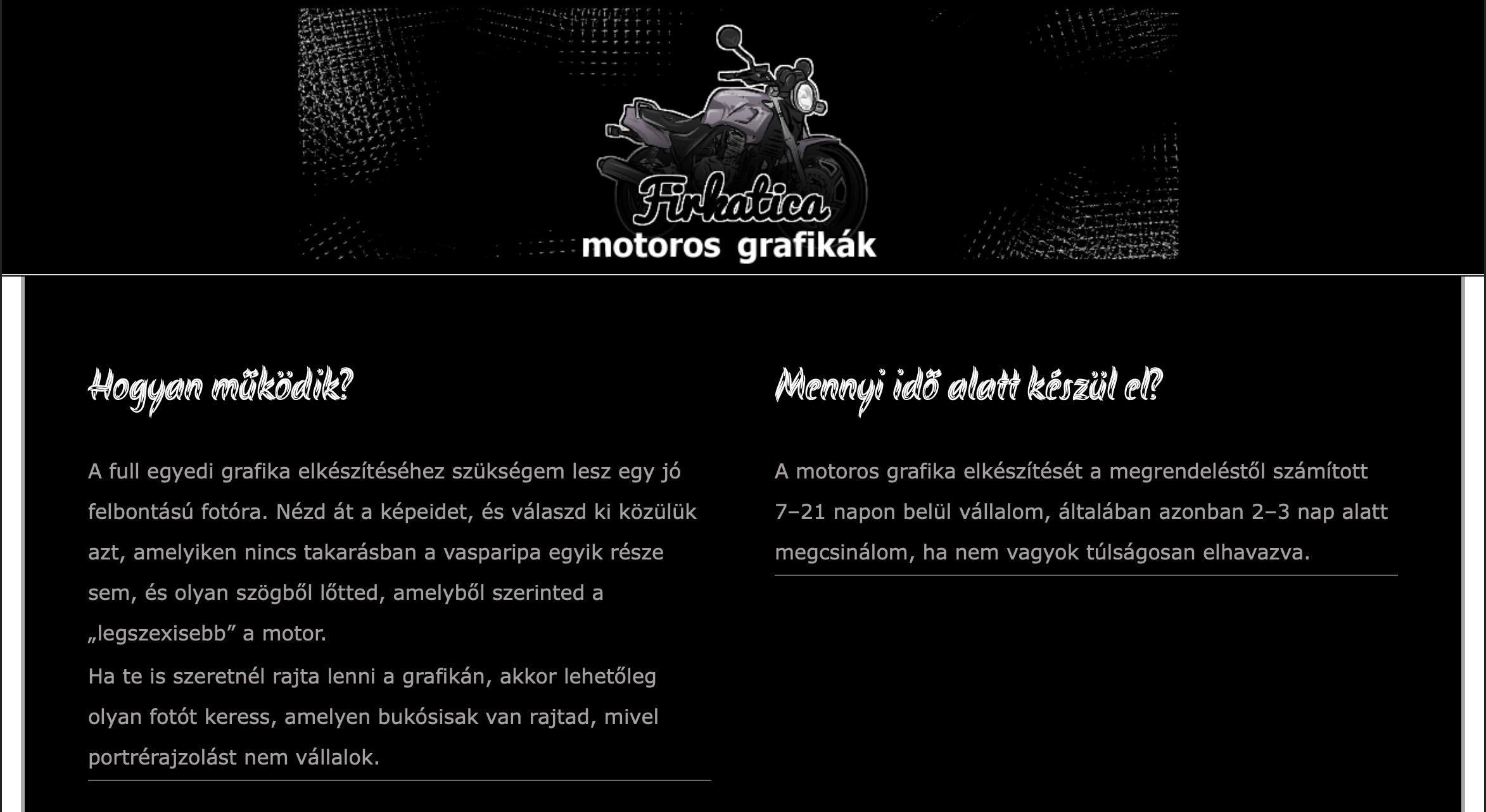 Firkatica motoros grafika korrektúra referencia