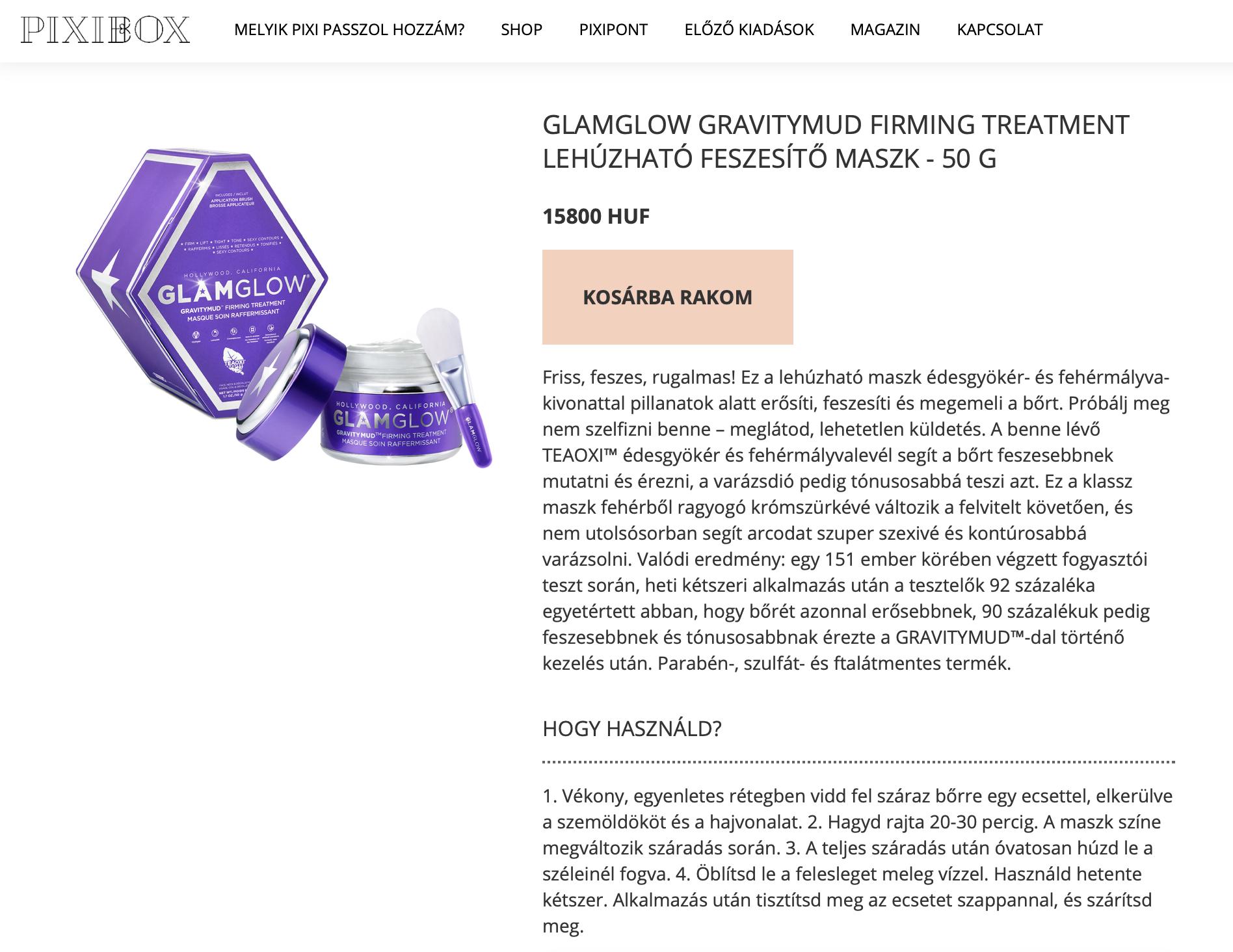 Pixibox webshop