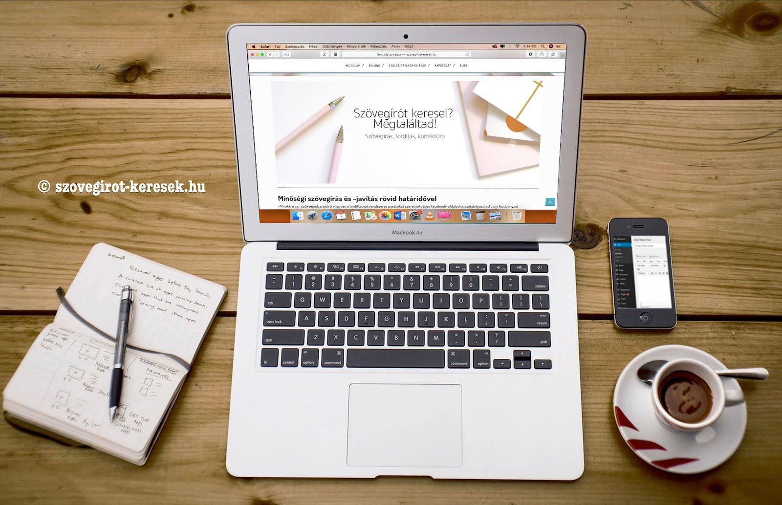 Szövegírótkeresek.hu honlap születése