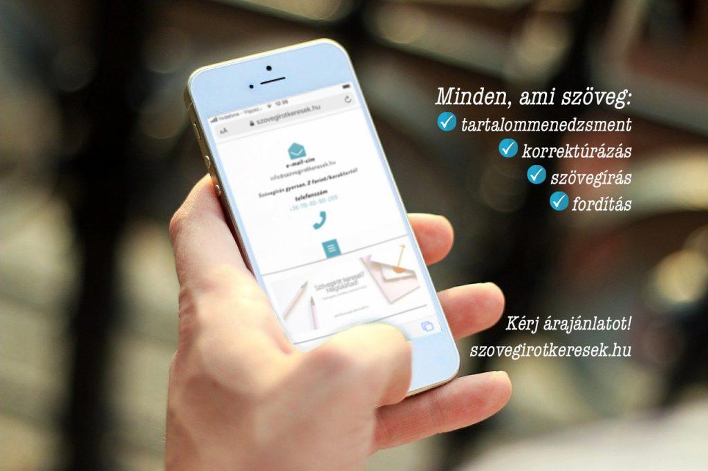 Szövegírás, tartalommenedzsment, fordítás, korrektúrázás szolgáltatás