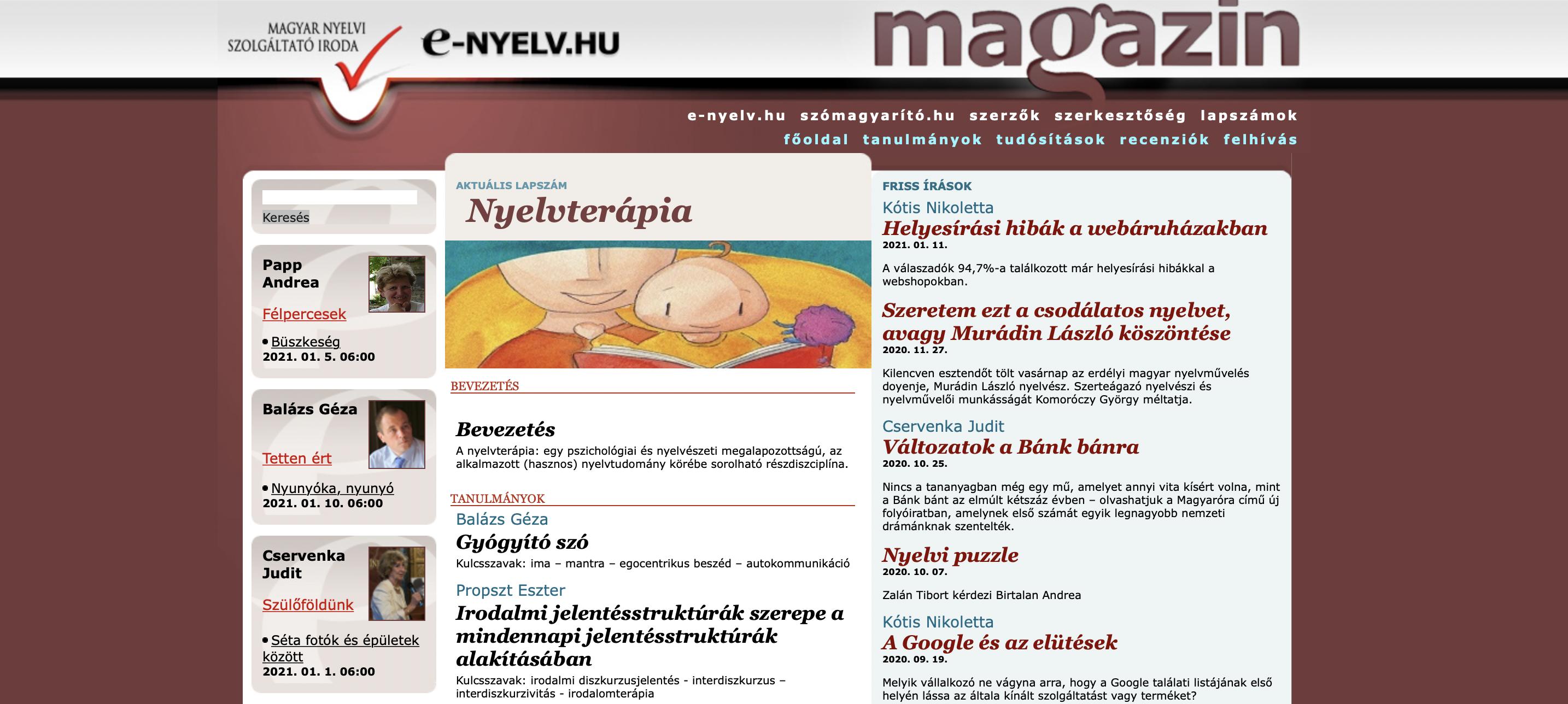 Publikáció az E-nyelv Magazin oldalán: Helyesírási hibák a webáruházakban (szerző: Kótis Nikoletta)