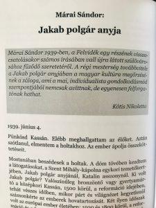 Magyar táj, magyar ecsettel – Márai Sándor: Jakab polgár anyja (Kótis Nikoletta ajánlásával)