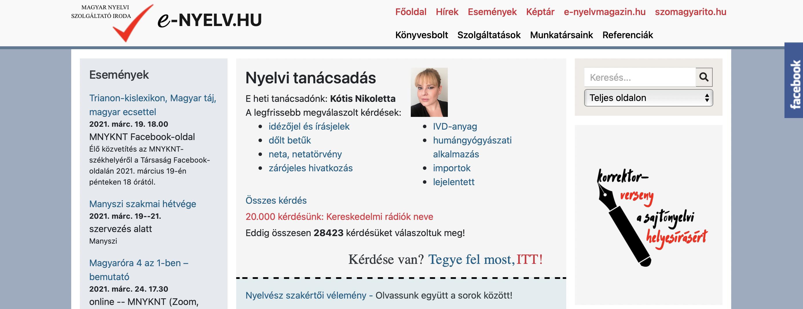 e-nyelv.hu nyelvi tanácsadás Kótis Nikoletta